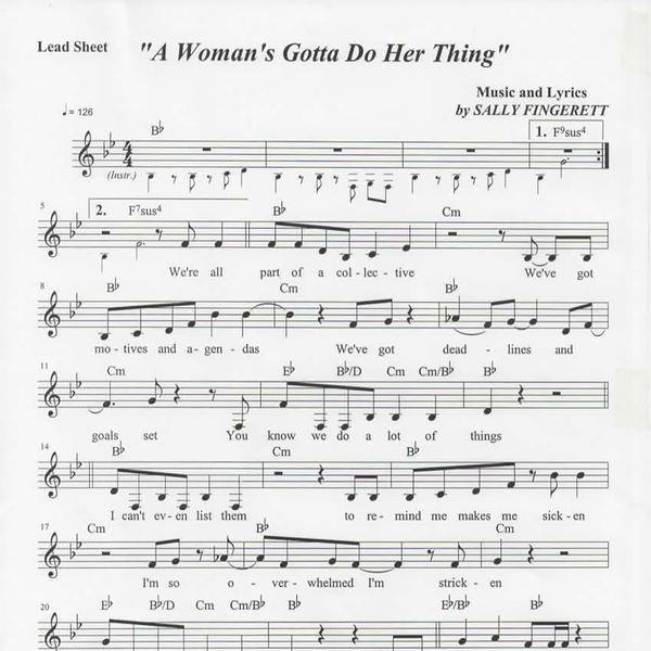 Sheet music to a woman039s gotta do her thing
