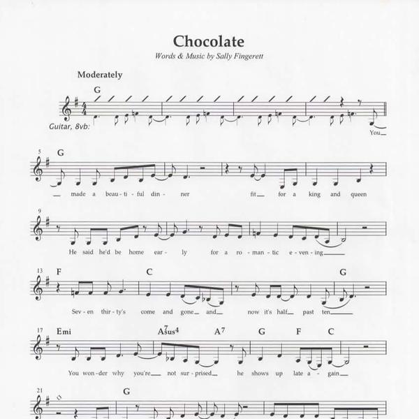Chocolate Sheet Music
