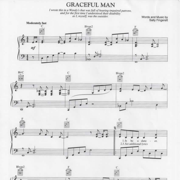 Graceful Man sheet music