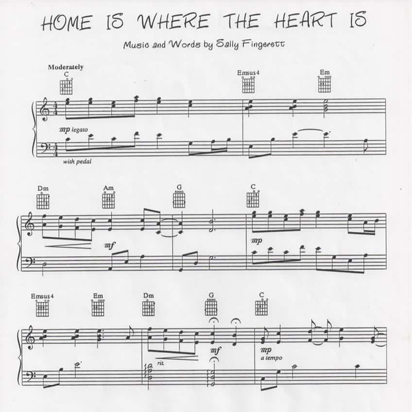 Home is where the heart is sheet music