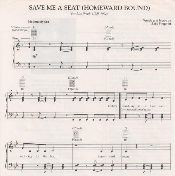 Save me a seat sheet music