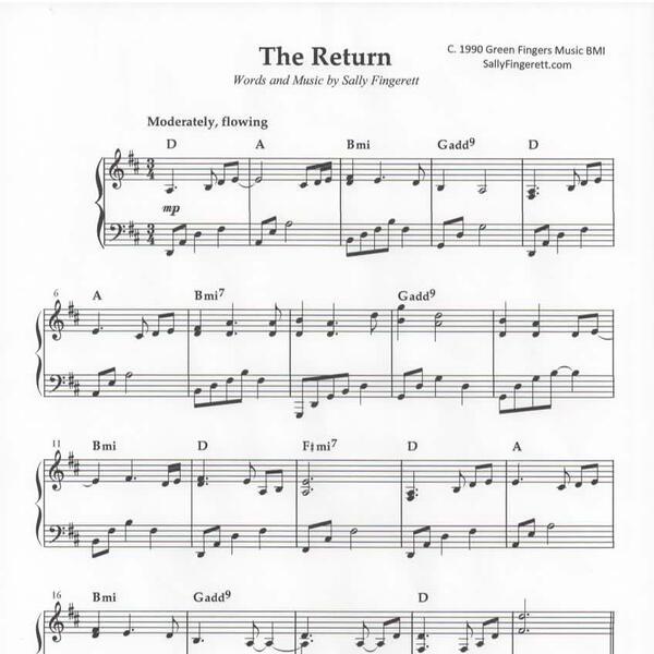 The Return sheet music