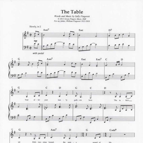 The Table sheet music