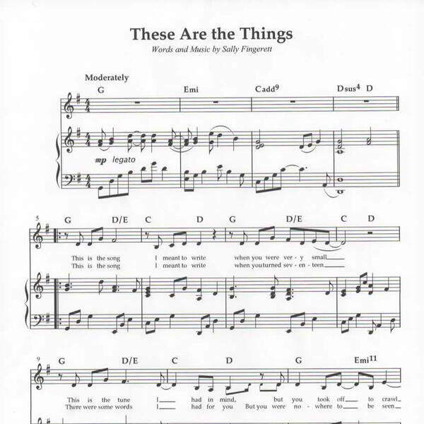 These are the things sheet music